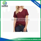 Latest shirt designs for women with red color bamboo t-shirts wholesale, bamboo clothing with your logo