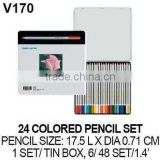 24 PROFESSIONAL NON-TOXIC COLORED PENCIL SET