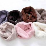 Solid Color Kids Fluffy Reversible Snood For Boys And Girls Warm Neck Snood Scarf