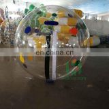 Dia2m colorful dots inflatable water ball walking on pool, outdoor adult games water bouncing ball