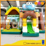 AOQI cheap price Safari Park inflatable combo jumper with slide for kids