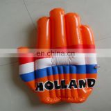 2014 World Cup hot sale PVC or TPU promotion and cheering giant inflatable hand