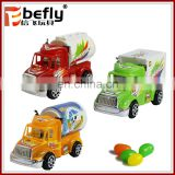 Promotion sliding mini truck candy plastic toys