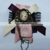 fashion cloth flower brooch