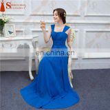 Royal Blue Long Bridesmaid Dresses Floor Length Scoop Neck With Spaghetti Straps Brides Maid Dresses Free Shipping JMR001