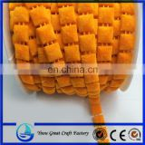 The new orange square flannelette plastic bead wire clothing decorative chain attachment