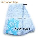 Catherine China Goods Wholesale Bridal White Embroidery 3D Lace Fabric