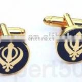 High Quality Black and Gold religious Khanda Sikh Cufflinks