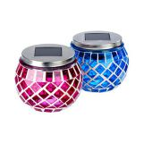Solar mosaic ball blue Handing Umbrella Lights Solar Lanterns Outdoor Waterproof LED Candle Decorated