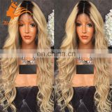 613 Blond Color Human Hair Wigs Unprocessed Remy Virgin Long Blonde Human Hair Full Lace Wig