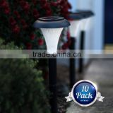 Set of 10 Solar Powered LED Garden Lights. Perfect for Path Patio Deck Driveway & Garden. Transform Your Garden. Super Easy to I