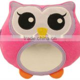 Plush baby safety toy owl with mirror