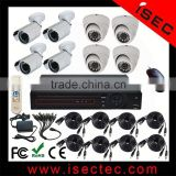8ch ahd dvr kits including 4pcs 1mp dome ahd camera and 4pcs 1mp bullet ahd camera for the cctv security system