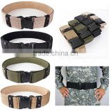 cotton polyester canavas karate webbing green military style belt
