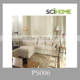 Hot selling royal design loose fabric linen cover L shaped sofa couch furniture                                                                         Quality Choice