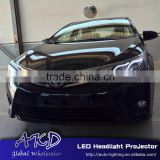 AKD Car Styling for Toyota Corolla LED Headlights C-Type 2014-2015 Altis LED Head Lamp Projector Bi Xenon Hid H7
