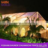 Customized clear span frame clear wedding tent with white pvc cover                                                                         Quality Choice