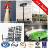 30m hot dip galvanized 12 side high mast pole,led tower light with lifting system for outdoor