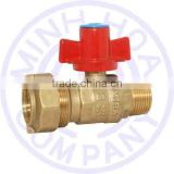 BRASS COMBINATION BALL VALVE LOCK HANDLE FOR WATER