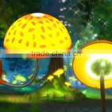 high quality and hot sale mushroom glass lamp decorative ceiling fans with lights