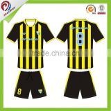 wholesale custom own black yellow soccer jersey with high quality
