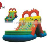 Children Small Inflatable Slide With Two Mini Archways