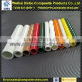 Durable pultruded fiberglass tube FRP tube braided fiberglass tubing product with colourful