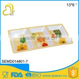 wholesale price square melamine custom printed serving tray                                                                                                         Supplier's Choice