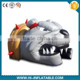 giant inflatable bull dog tunnel, large football inflatable helmet, inflatable advertising helmet tunnel