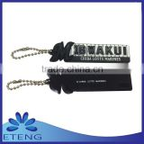 popular custom made logo soft rubber keychain with your own design