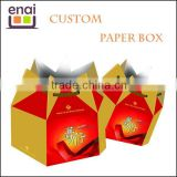 paper gift box, paper lunch box, food paper box, paper jewelry box with handle for promotion