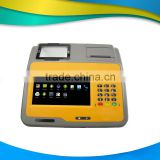 New design!!! 7 inch touch screen android running system Pos Device with embedded auto cutter paper printer------Gc039D
