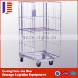 Cold Steel Logistic Trolley Roller Container for Warehouse / Cargo Cart