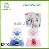Lovely plastic kids toilet with music 6 song baby potty