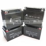 GRATE brand maintenance free motorcycle battery 12v 7ah lead acid battery 12n7-4b mf motorcycle battery 7ah