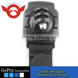 Simple 360-degree rotation wrist mount for Gopro Hero 2/3/3+/4/4 Session camera accessory