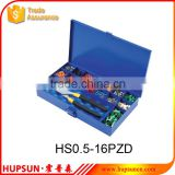 HS0.5-16PZD crimping tool kits crimping plier PZ0.5-16 in blue metal box tool kit set                                                                         Quality Choice