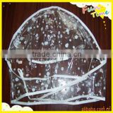 Plastic disposable rain hood/rain cap/rain bonnet