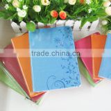 fancy color beautiful A5 leather embossed journals made in china