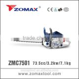 torque wrench 73.5cc ZMC7501 3.2kw china saw electric chain saw sharpener to petrol chain saw