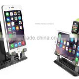 New Design Luxury Aluminum Alloy Holder Dock For Apple Watch mini stand 2 in 1 function for iphone samsung htc ipad air