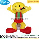 DJ-XT-130 inflatable yellow smile people wear red costume fresher party light supplies mask city