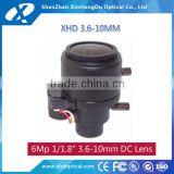 1/1.18 CCD cost effective auto iris manual focus 3.6-10mm infrared cctv lens