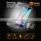 Tempered glass screen High Adhesive Silicone Coated Screen Protector for Samsung S6 Edge Clear