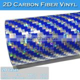 Laser 2D Carbon Fiber Rainbow Holographic Car Vinyl Wrap Sticker