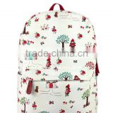 600d school make polyester backpack with cartoon character cute print bag