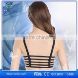 Fashion Halter Hollow Out Padded Bra Sexy Cross Back Vest Tank Top for Women