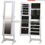 Jewelry Storage Cabinet,Full-length Mirror Showcase,Modern Jewelry Furniture