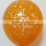 Global latex balloons printing Valentine's day standard color advertisement balloons