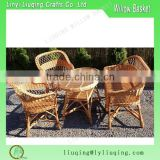 Wholesale wicker woven beautiful garden furniture set with ample bench